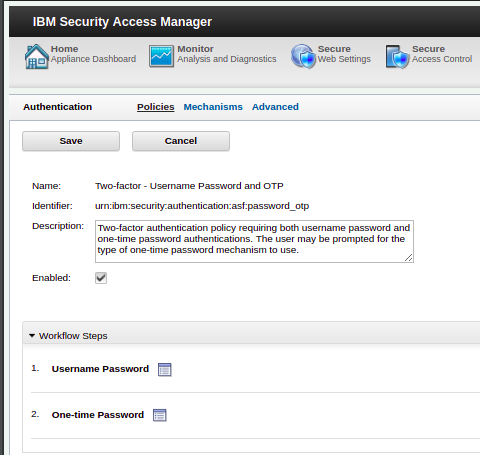 A screenshot of the authentication service UI