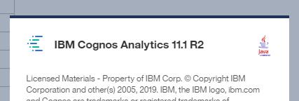 Cognos Analytics - Business Analytics