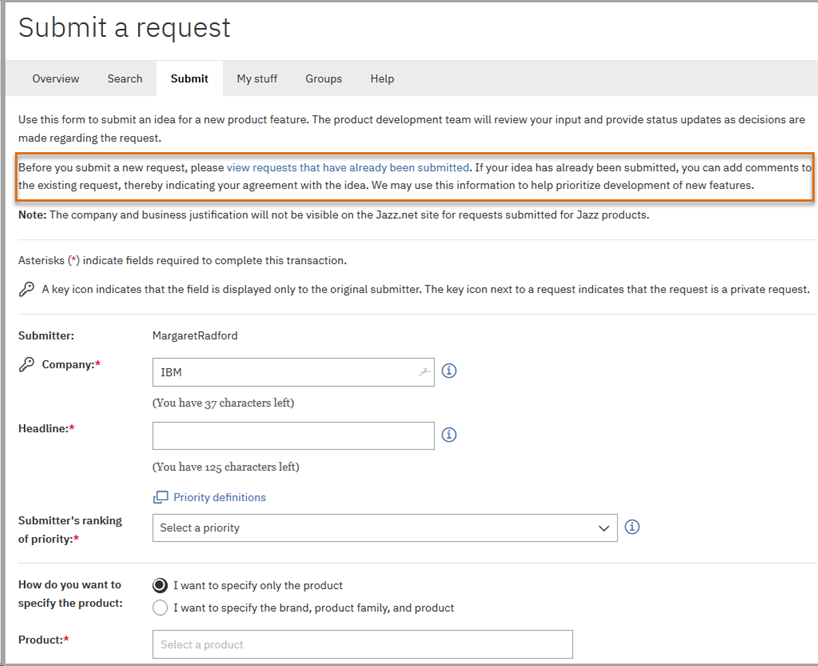 Learn how to submit a MaaS360 RFE