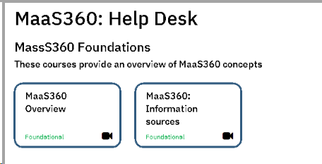 MaaS360 course example