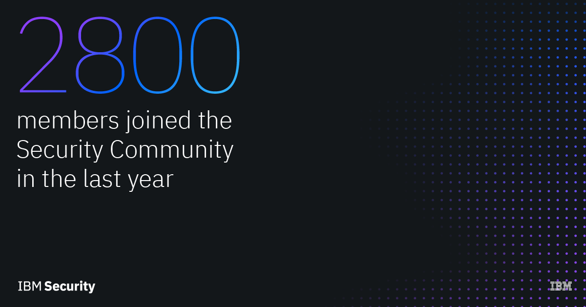 2800 members joined the IBM Security Community in its first year