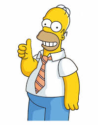 Picture Transparent Library Did It Againthe Tapped - Homer Simpson With Thumbs  Up | Transparent PNG Download #45426 - Vippng
