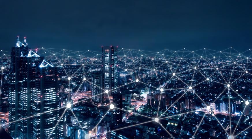 Cidade com redes interligadas