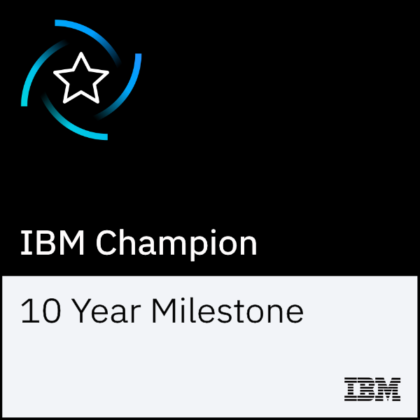 IBM Champion 10 Year Milestone