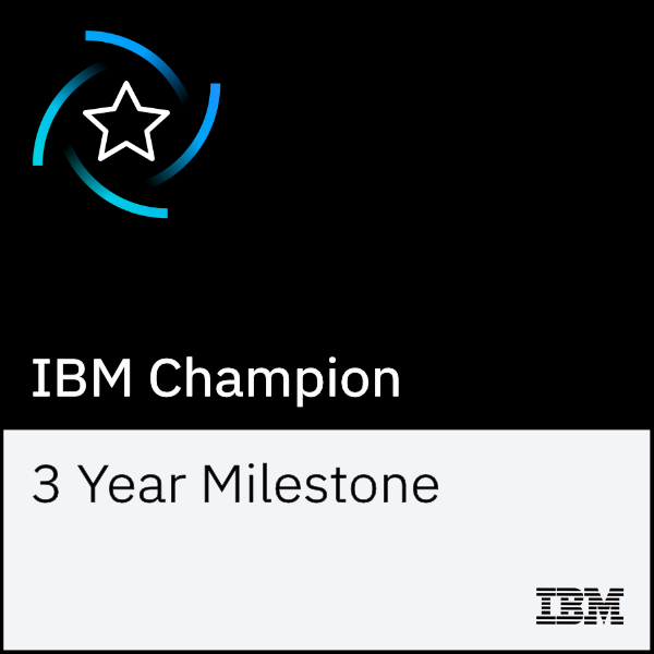 IBM Champion 3 Year Milestone